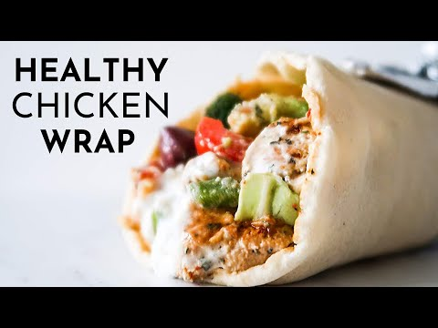 Healthy Chicken Wraps | Healthy and Easy Mediterranean Dinner Recipe