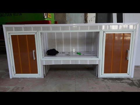 Kitchen Set Dari Hollow Baja Rimgan Bahan Plafond Pvc Youtube