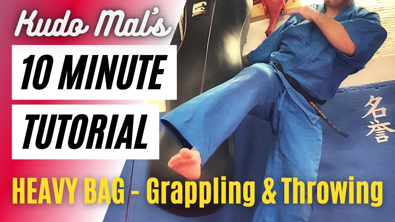 10 min tutorials: Kudo Mal explains how to use a heavy bag for grappling, throwing