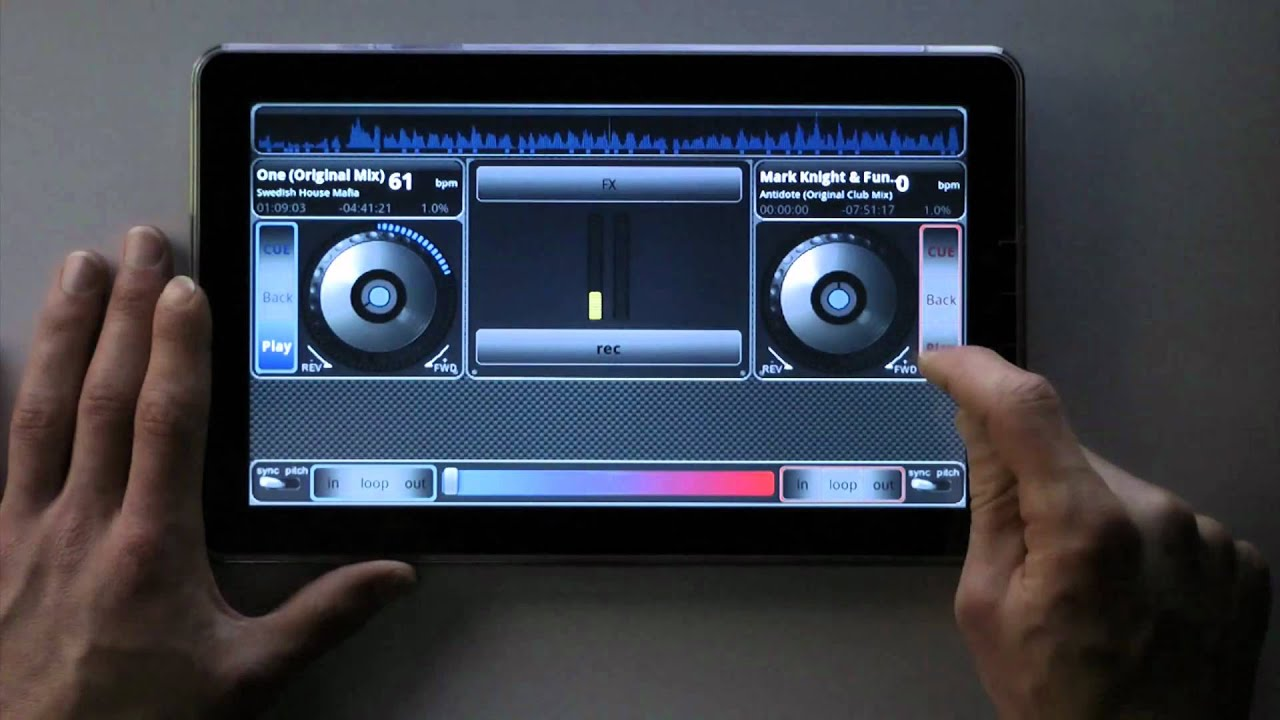 Dj Studio Dj Ing With Android On 10 Quot Tablet Youtube