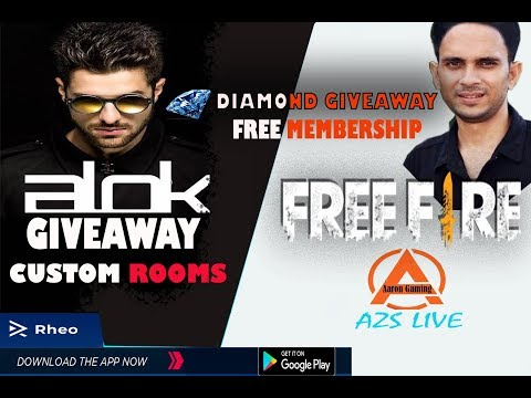 FREE FIRE LIVE : MEMBERSHIP GIVEAWAY  EVERY DAY//CUSTOM ROOMS //Azs Live // Aaron Gaming