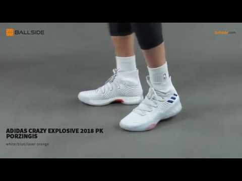 best website 2e336 1029a adidas Crazy Explosive 2018 PK Porzingis on feet