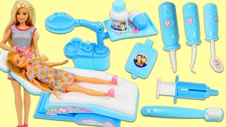 Barbie Visits the Dentist Toy Hospital for a Check Up & Surprise Toys Opening!