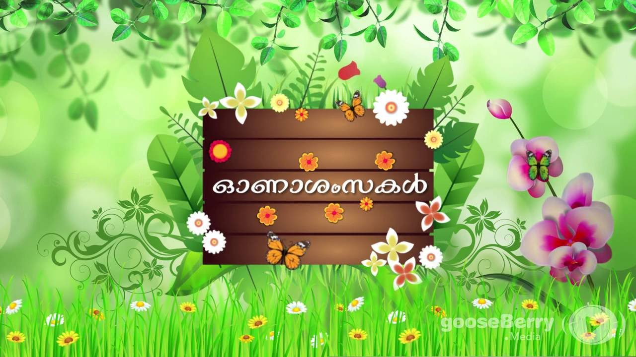Happy Onam Wishes In Malayalam Onasamsakal Animated Video For