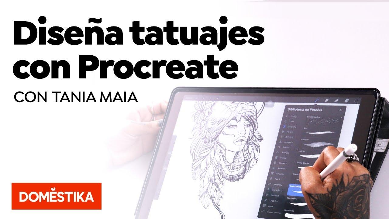 Diseño E Ilustración Digital De Tatuajes Con Procreate Curso Online De Tania Maia Domestika Youtube