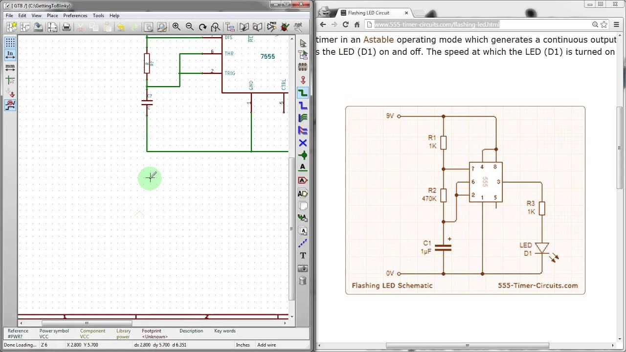 KiCad 3 0 - Schematic Creation with EEschema - Getting To Blinky KiCad  Tutorial - Part 3