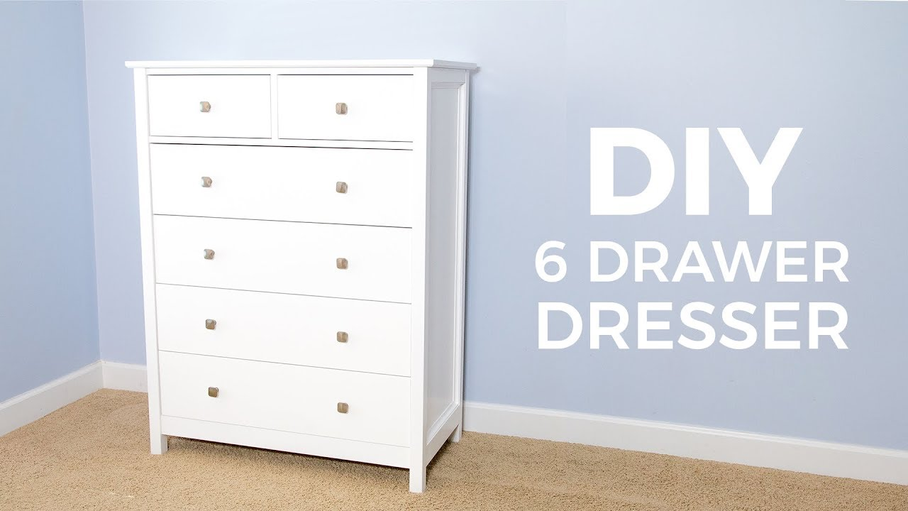 Diy 6 Drawer Tall Dresser How To Build