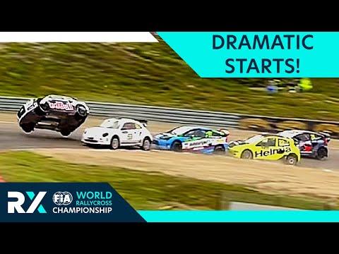 Most Dramatic Rallycross Starts!   FIA World Rallycross