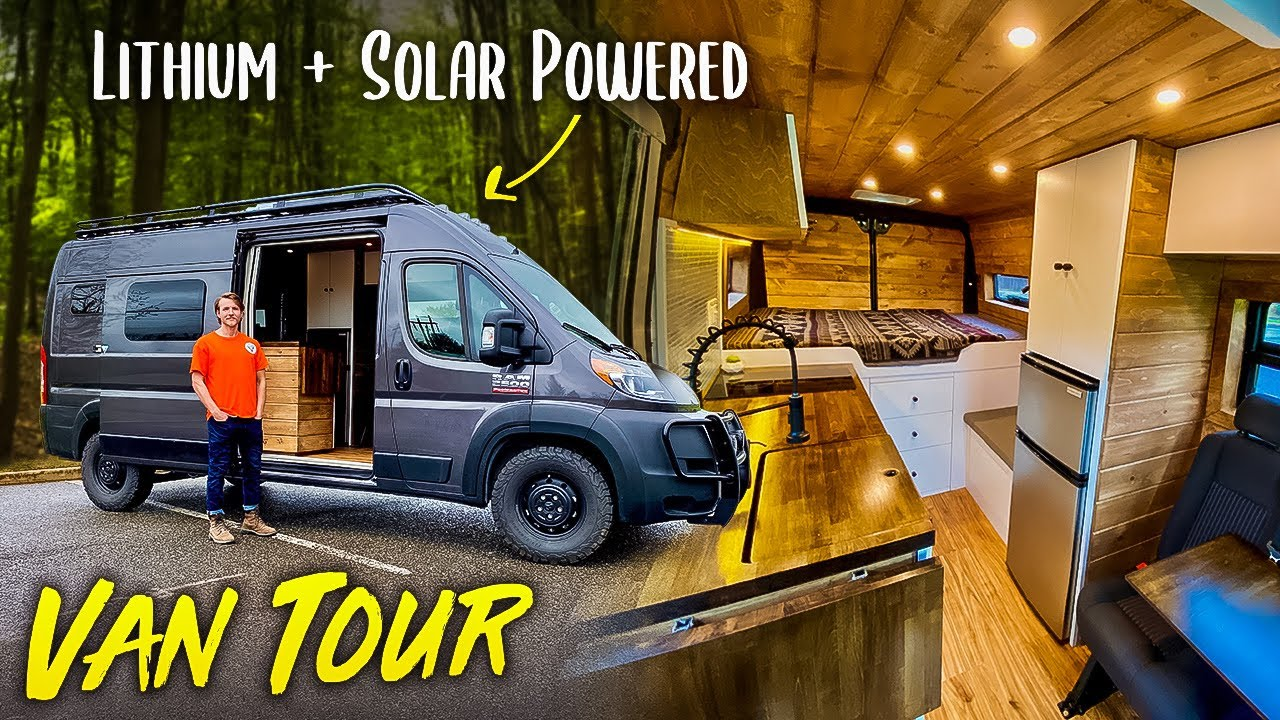 VAN TOUR | AMAZING Budget Custom Converted Ram ProMaster Build Out #CAMPERVAN