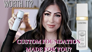 Custom Made Foundation by Lancome Full review, tutorial, demo!