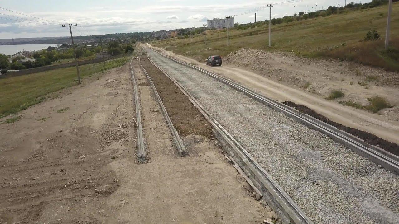 Заброшенное федеральное строительство дороги к крепости Керчь.