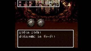 【SFC】ドラゴンクエスト3 カザーブ東の強敵でレベルアップ