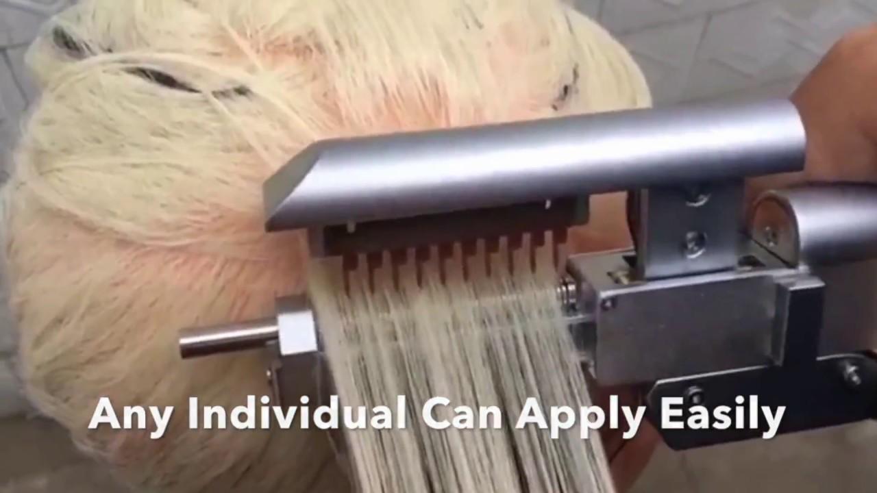 6d Hair Extension Set Youtube