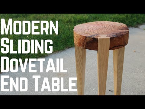 Modern End Table With Sliding Dovetails! How To | Woodworking