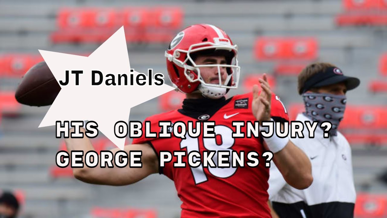 JT Daniels on his oblique injury and George Pickens