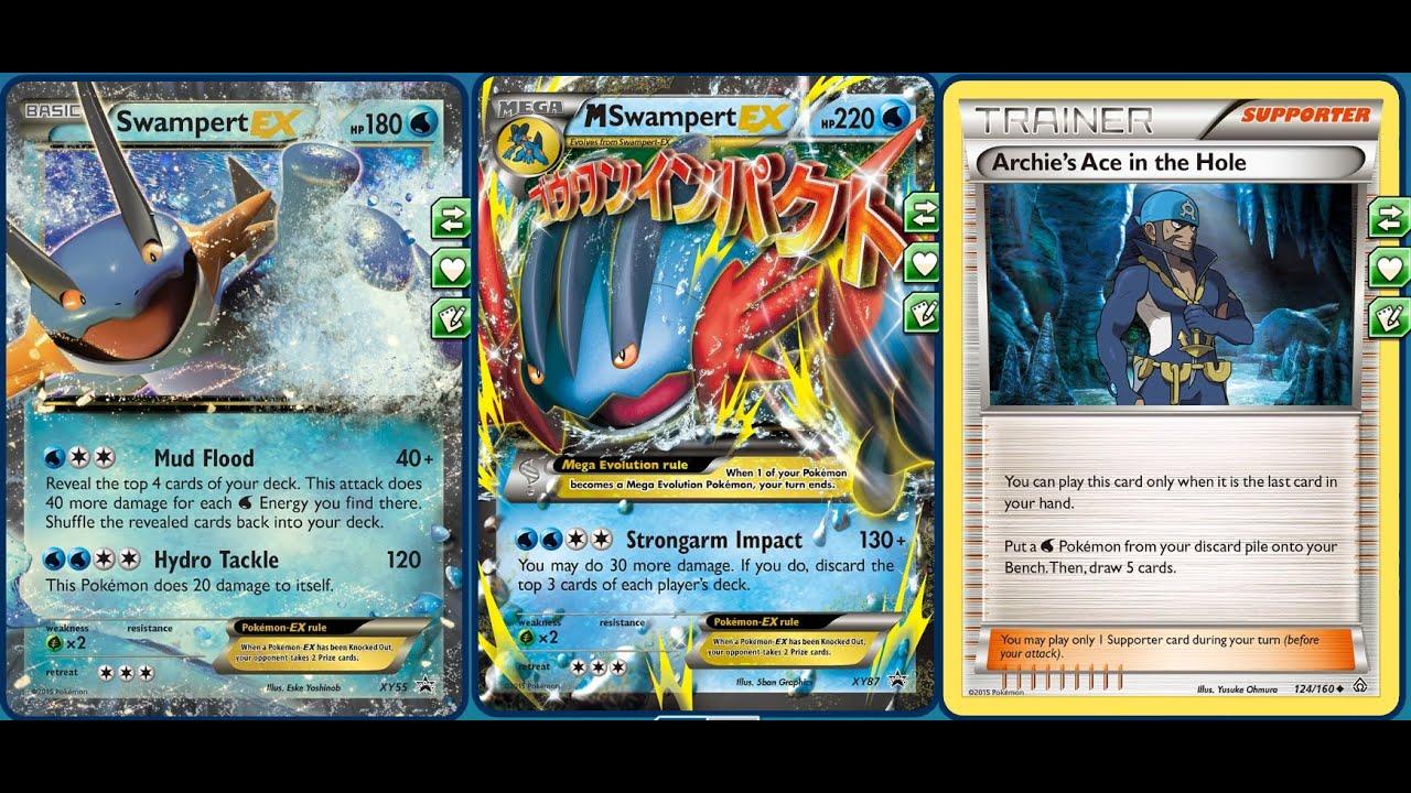 Heavy Impact Mega Swampert Ex Deck Erasing Ex Pokemon