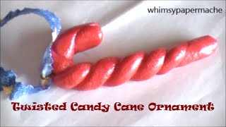 Simple Dough Clay Candy Cane Ornament