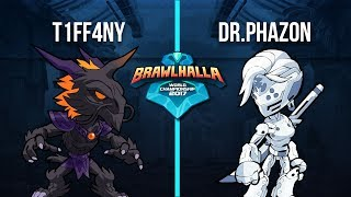 T1ff4ny Vs. Dr.Phazon - 1v1 Playoffs - 2nd Annual Brawlhalla World Championship