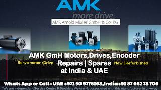 AMK Servo Motor Repairs INDIA UAE - Encoder Resolver Adjust Align Install How