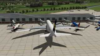 X-Plane 10: Lufthansa A380, BluFX, Enhanced Runways HD, Chicago Scenery