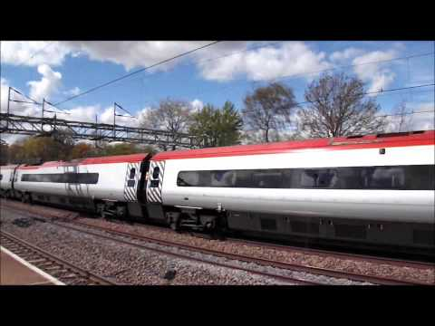 (HD) *FULL SPEED* Pendolino with tone at Tamworth