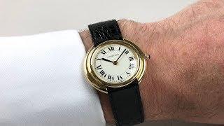 Cartier Vendôme 18ct gold wristwatch, hallmarked 1974