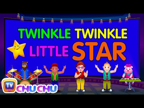 Twinkle Twinkle Little Star - Nursery Rhymes Karaoke Songs For Children | ChuChu TV Rock 'n' Roll