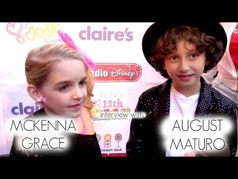 with Mckenna Grace & August Maturo at JoJo Siwa 's 13th Birthday Party