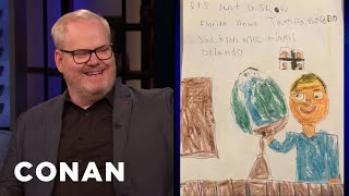 Jim Gaffigan Pays His Kids To Draw Tour Posters - CONAN on TBS