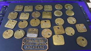 Years Of Collecting Brass Miners Lamp Checks, Bought For Resale On Ebay Online Reseller