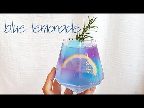 홈카페 _ 블루 레몬에이드 _ Blue Lemonade_ブルー  レモンエード レシピ