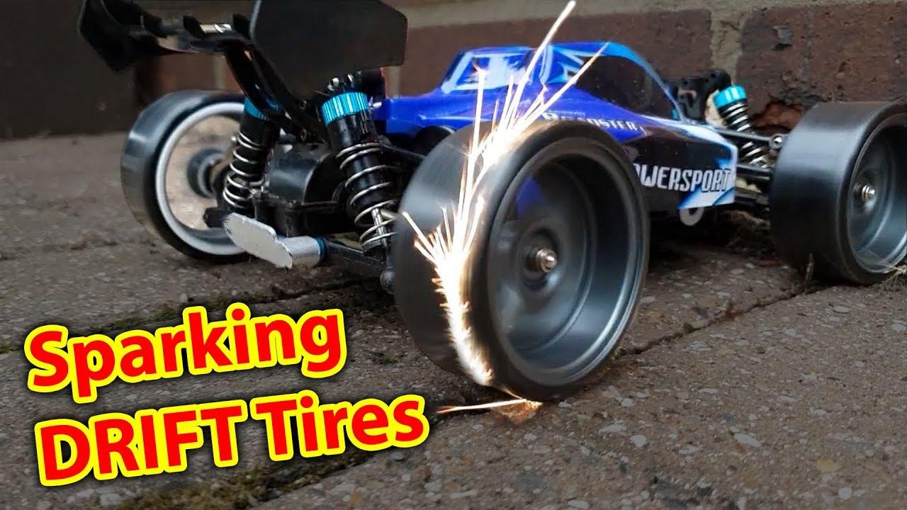 Cheap Car Tires >> Sparking DRIFT Tires on DIRT CHEAP RC CAR - WLToys a959 Drifting - YouTube