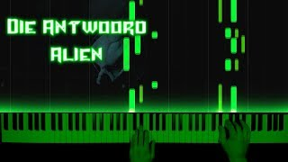 Die Antwoord - Alien - piano cover | tutorial | how to play