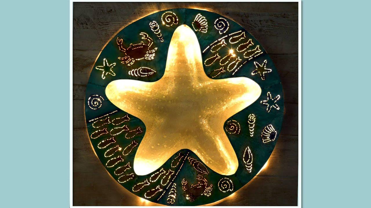 Starfish Metal And Gl Wall Art Sku