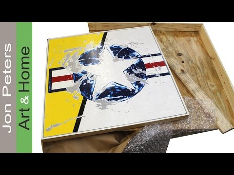 How to Pack and Crate Artwork / Paintings for Shipping - YouTube