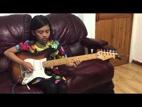 10 yr old Krizten Centino guitar cover of Oye Como Va by Santana