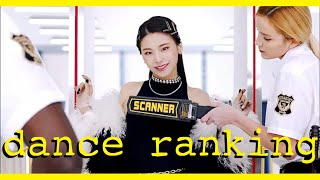 ITZY Dance Ranking (ranked by a dancer)