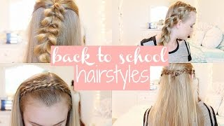 5 Easy & Cute Back To School Hairstyles♡ | No Heat/ Second Day Hairstyles