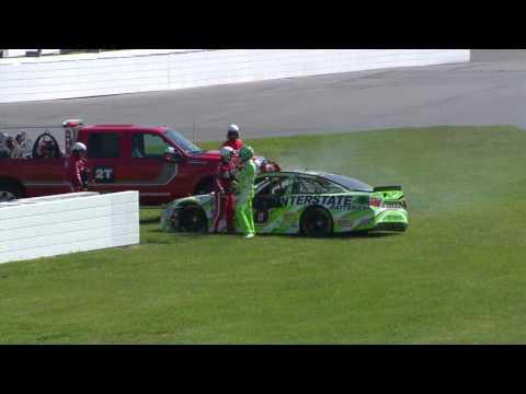 2016 NSCS Coke Zero 400 - Rowdy Hard Hit In The Wall, Practice in Daytona