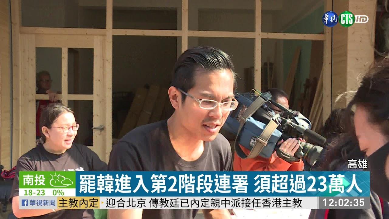 高雄人罷免韓國瑜 須逾58萬人同意 | 華視新聞 20200118 - YouTube