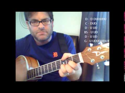 How To Play Jealous Again By The Black Crowes On Acoustic Guitar