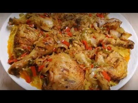 cuisse-de-poulet-au-riz-jaune-facile-(cuisine-rapide)