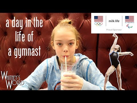 A Day in the LIfe of a Gymnast   Whitney Bjerken   Team Milk