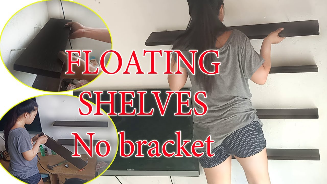Download HOW TO MAKE FLOATING SHELVES with No bracket | Using marine plywood 3/4.
