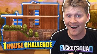 THE 1 HOUSE CHALLENGE IN FORTNITE! *DIFFICULT*