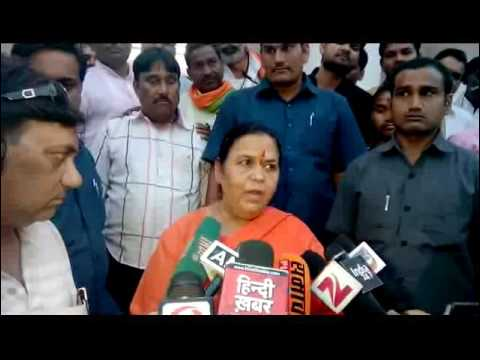 Uma Bharti says CM Akhilesh should watch his face before BJP CM face