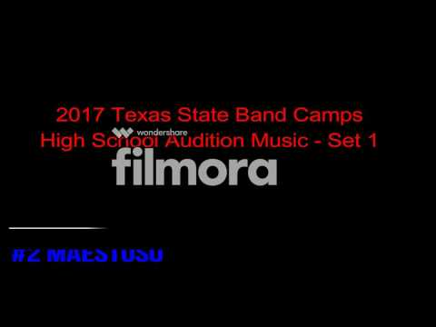 2017 Texas State Band Camps High School Audition Music - Set 1 (Trumpet)