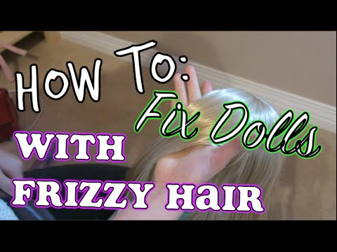 how to fix frizzy doll hair frizz to straight silky hair 25 dollidays day 22 youtube. Black Bedroom Furniture Sets. Home Design Ideas