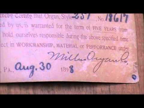 1898 Miller Pump Organ made in Lebanon, PA