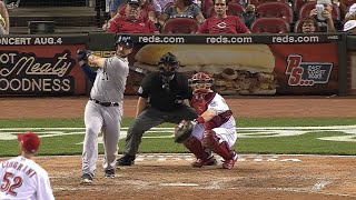 MIL@CIN: Shaw connects for solo homer to right-center